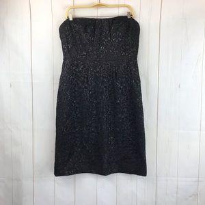 J. Crew Black Strapless Dress Size 8